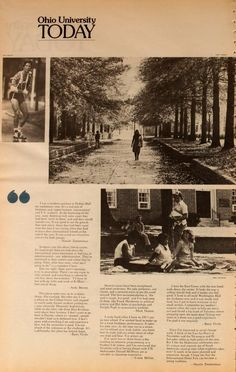 """Ohio University Today, Summer 1982. """"From the Student Standpoint."""" Students talk about what it's like to go to Ohio University in the '80s. :: Ohio University Archives"""