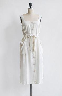 Feminine Vintage Inspired Dress / Feminine Midi Sundress / Winds of Summer Dress