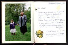 Mijn moeder Josepha Johanna Wesseldijk in het album van mijn dochter. Polaroid Film, Album, Cover, Books, Libros, Book, Book Illustrations, Card Book, Libri