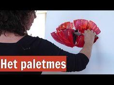 Werken met het paletmes || VrolijkSchilderij - YouTube
