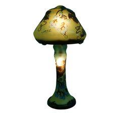 Galle Inspired Mushroom Grape Design Table Lamp