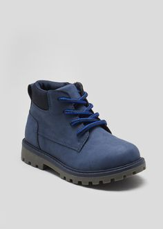 25297040cf6 Boys Lace Up Boots (Younger 4-12) – Navy – Matalan