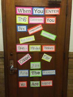 Classroom Door Decor - International Baccalaureate Learner Profile Inspired.
