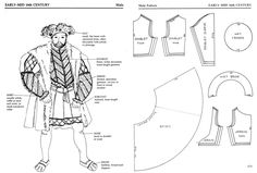 """""""Patterns for Theatrical Costumes"""" www.pinterest.com Renaissance Costume, Medieval Costume, Historical Costume, Historical Clothing, Sewing Clothes, Diy Clothes, Clothing Patterns, Sewing Patterns, Elizabethan Dress"""