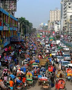 Experiencing this traffic in Dhaka, Bangladesh RIGHT NOW. It is fo realz.