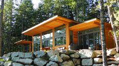 Contemporary West Coast Style Custom Homes Vancouver- Tamlin Homes Home Design, Modern House Design, Modern Houses, Design Design, Lakeside Cottage, Modern Cottage, Timber Frame Homes, Timber Frames, Cottage Plan