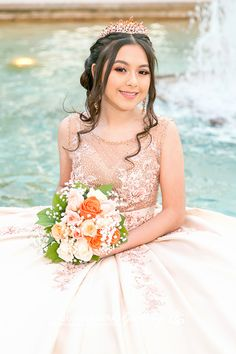 Quince Dresses, 15 Dresses, Flower Girl Dresses, Quinceanera Planning, Pretty Quinceanera Dresses, Cinderella Sweet 16, Quince Pictures, Book 15 Anos, Quinceanera Photography
