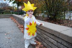 Sunshine and Rainbow Halloween free DIY toddler baby costume idea sewing pattern and tutorial