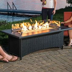 napoleon square propane fire pit table turn the party up a notch rh pinterest com Propane Gas Fire Pit Table patio dining table with gas fire pit