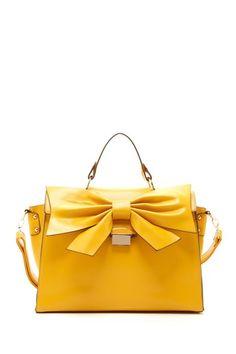 Mustard Bow Bag / Nila Anthony