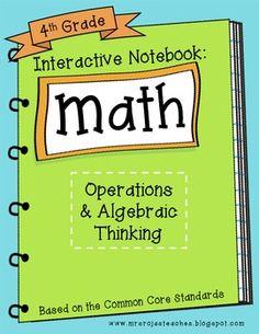 4th Grade Interactive Math Notebook - Operations & Algebraic Thinking | CreateTeachShare | {4}