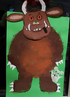 Lijf stempelen met spons Crafts For Kids To Make, Easter Crafts For Kids, Art For Kids, Gruffalo Activities, Book Activities, Gruffalo Characters, Bee Creative, The Gruffalo, Early Education