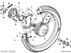 Diagram of Honda Motorcycle Parts 1976 CT90 A CARBURETOR