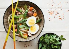 Udon Noodle Soup with Vegetables
