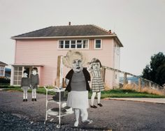 """Ava Seymour - """"Enema Nurse"""" - Photocollage from """"Health, Happiness and Housing"""", 1997, New Zealand"""