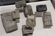 Mobile Phones found in the rubble from the September 11, 2001 attacks on the World Trade Center (Pic: Getty Images)