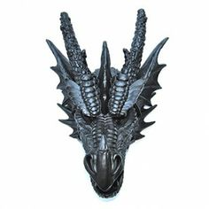 Black Dragon Head Wall Mount - Faux Taxidermy DR17 $93.99