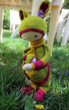 """Ravelry: """"KIRA"""" - lalylala crochet pattern N° VII - Kangaroo pattern by Lydia Tresselt"""