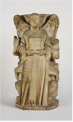 Symbols of St. Matthew, St. Mark and St. Luke ,made  by Nicola Pisano.ca 1215. From Pisa,Italy Marble V