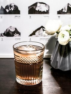 Whisky and Lion's Mane drink recipe.
