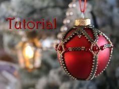 Tutorial for beadwoven Christmas Beaded Bauble - PDF beading pattern - DIY