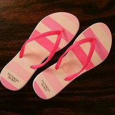 Victoria's Secret Flip Flops Brand new!  Medium (US Size 7-8)  *Matching BAG can be found in my closet (sold separately) Victoria's Secret Shoes Sandals