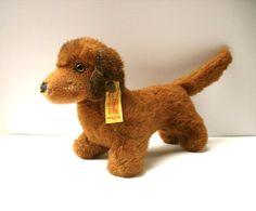 Steiff Dog-Dachshund Hexie Dog-Weiner Dog by luckduck on Etsy