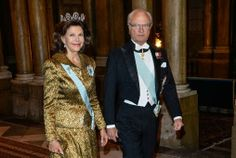 At the Royal Palace in Stockholm, r oi Carl Gustav, Queen Silvia, Crown Princess Victoria (back to South Africa) , Prince Daniel and Prince Carl Philip presided over a gala dinner in honor of the winners Nobel Prize Princess Estelle, Princess Madeleine, Princess Margaret, Crown Princess Victoria, Crown Princess Mary, Princess Charlotte, Princess Of Wales, Prince Carl Philip, Prince Daniel