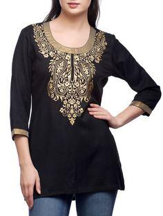 Buy Shilpkala black rayon  Online, , LimeRoad