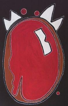 Jack Dale ~ Nguwara-Wandjina at Mt. Ord, 2007