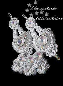 Sutasz Kleo /Soutache jewellery: Biżuteria ślubna Ivon wersja III