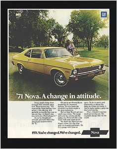 1970's Chevy Nova. Brings Back Memories! This car almost landed me in jail more than once...