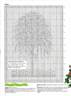 Häkeln & Filethäkeln Gardine Baum / crochet curtain tree - Cortinas de croche