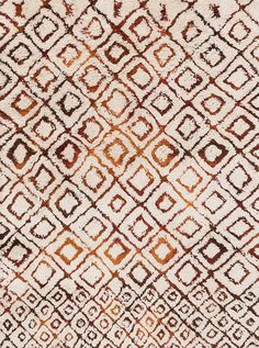 Loloi Folklore Ivory/Spice Area Rug-Designed by the vibrant bohemian designer and New York Times best-selling author, Justina Blakeney, the Folklore Collection is an artful expression of her wild and colorful style. Hand-tufted in India of wool Contemporary Rugs, Modern Rugs, Contemporary Furniture, Scatter Rugs, Justina Blakeney, Polyester Rugs, Moroccan Pattern, Rug Company, Textiles