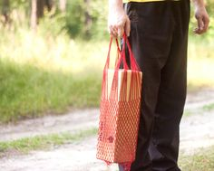 Shopping Bag is from natural material. Shoulder bag with от EcoGG, $25.00