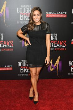 """Actress Jaina Lee Ortiz attends the premiere of Sony Pictures Releasing's """"When The Bough Breaks"""" at Regal LA Live Stadium 14 on August 28, 2016 in Los Angeles, California."""