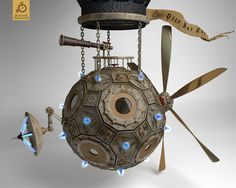 Steampunk themed armillary sphere! finally after hours and hours of test renders and finally i've found the lightning that i'm happy with A must have for interdimensonal dirigible navigation. The s...