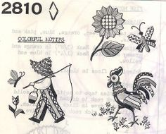 Bias Tape rooster, sunflower, boy | Flickr - Photo Sharing!