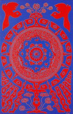 psychedelicdisaster:    Flight Patterns   Poster art by Joe McHugh