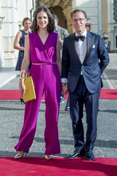 Prince Jaime and Princess Viktoria of Bourbon-Parma attend a concert for President Sergio Mattarella performed by Dutch violinist Janine Jansen at the Palazzo Colonna during the second day of the Dutch royal state visit to Italy on June 21, 2017 in Rome, Italy.