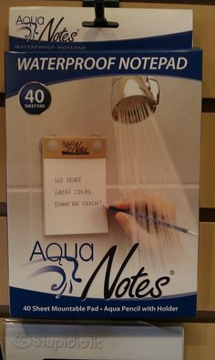 need this for when i come up with genius ideas in the shower, but forget them before I have time to write them down