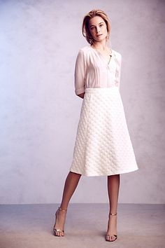 Dotted Jacquard Skirt #anthropologie #anthrofav