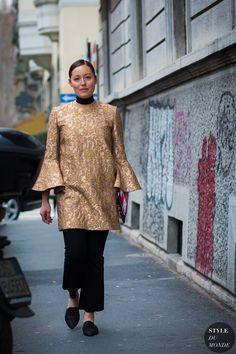 Rachael Wang Street Style Street Fashion Streetsnaps by STYLEDUMONDE Street Style Fashion Photography