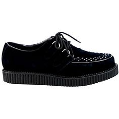 a92bc5b29817 Demonia Black Suede One Inch Creepers. Demonia black suede one inch uni-sex  platform creepers by Demonia. Mens size 10 equals to a Womens size If you  have ...