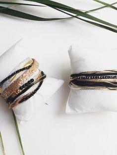 Bracelet double tour multi chaines Tino