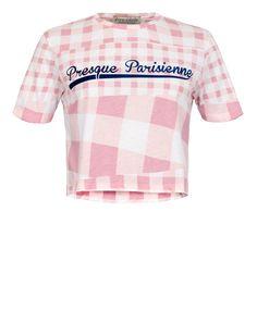 Gingham Presque Parisienne Crop T-Shirt
