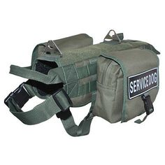 Tactical-Military-SERVICE-DOG-VEST-HARNESS-Removable-Side-Bags-Velcro-Patches