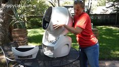 How to Clean the Litter Robot Open Air Automatic Litter Box https://youtu.be/-SP7GbGVp5Y  http://www.floppycats.com/how-to-clean-the-litter-robot-open-air-automatic-litter-box.html