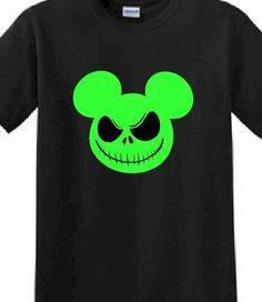 disney customized printed t shirt mickey mouse halloween glow in the dark family trip disney world by apollouniforms on etsy