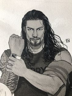 Nothing new today, sorry. So join me in wishing my husband, Roman Reigns, a very swift recovery so we can all see him rocking… Roman Reigns Wwe Champion, Wwe Superstar Roman Reigns, Wwe Roman Reigns, Dark Art Drawings, Love Drawings, Pencil Drawings, Roman Reigns Drawing, Wwe Lucha, Pencil Sketch Portrait
